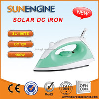 SL-100T 12V DC solar iron for clothes 150W Temperature Adjustable China TOP 1 12V DC Electric IRON Appliance Manufacturer