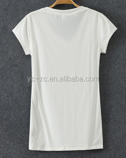 Cheap China Wholesale Plain White V Neck T Shirts Women Thin ...