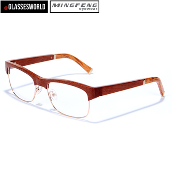 2017 wood frame glasses fashionable wood metal mix optical frames fw957 - Wood Frame Glasses