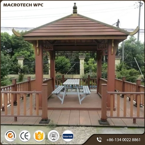 High quality waterproof simple hard wood cheap pavilion