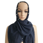 Black fashion spring summer voile polyester head muslim scarf hijab