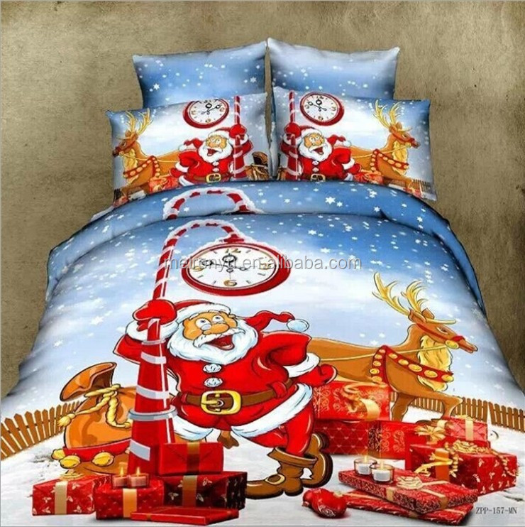 Wholesale New 3d Cotton Red Christmas Bedding Of Set 3d Blue ...