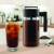 Iced glass cold brew coffee maker, portable single cup coffee maker, cold drip coffee maker with filter and ice tube