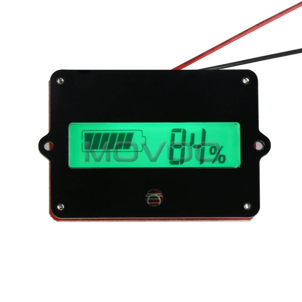 green backlight lcd battery capacity indicator tester dc 24v battery monitor meter for 24v lead. Black Bedroom Furniture Sets. Home Design Ideas