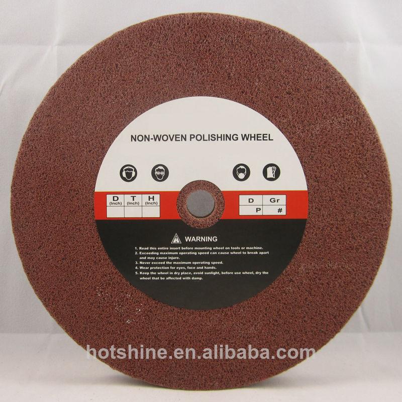 10Pc 4 inch Fiber wheels Nylon wheel Bowl Polishing Abrasive Discs Grinding 7P