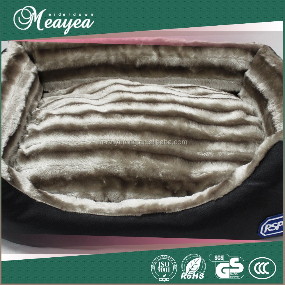 High quality polyester hand made pet bed