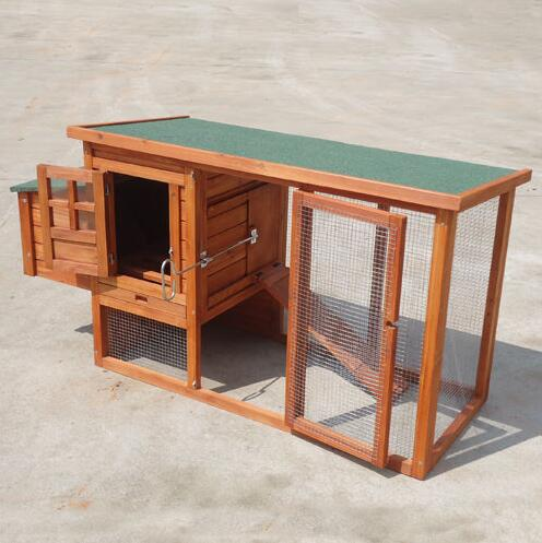 Wholesale New wooden Rabbit Hutch Ferret Run Guinea Pig Cage