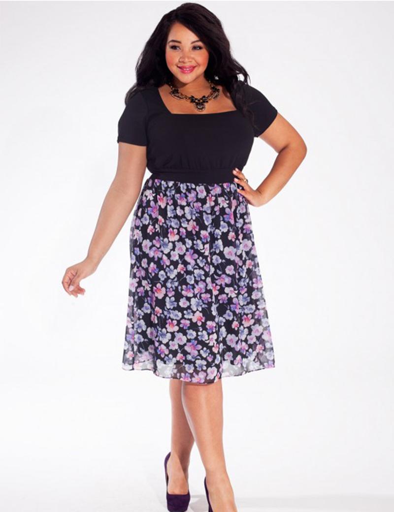 d2d099b6eb99 Get Quotations · 2015 Summer Black Dress Short Sleeve Floral Chiffon Dress  Plus Size Women Clothing Casual Party Dress