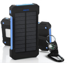 Mini 10000 미리암페르하우어 Solar Power Bank Solar Charger 2 USB Ports External Charger Power bank 와 LED 빛 대 한 핸드폰
