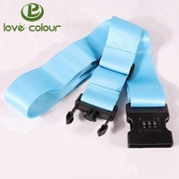 Factory Custom Blue Safety Luggage Strap Belt with Digital Scale and Combination Lock