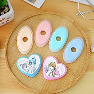 Katoot@ 12 pcs/lot kawaii heart oval shaped erasers for erasable pen cute colorful rubber eraser office school supplies