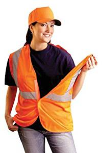 OccuNomix 2X/3X Hi-Viz Orange OccuLux Classic Economy Light Weight Polyester Mesh Class 2 5-Point Break-Away Vest With Front Hook & Loop Closure & 3M Scotchlite 2 Inch Silver Reflective Tape & 2 Pockets SSGCB-O2/3X