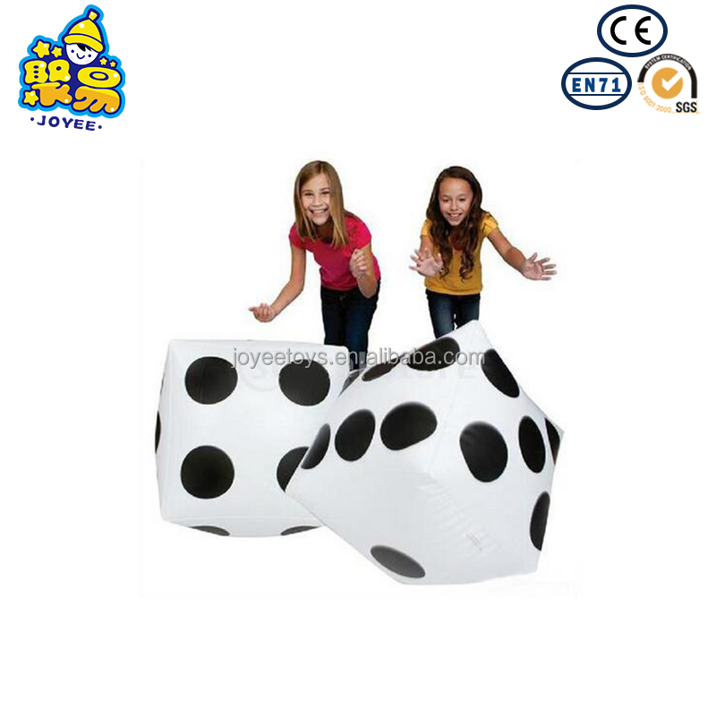 Novelty Place 20 Jumbo Inflatable Dice 2 PCS Ludo and Pool Party 20 Inch White and Black Giant Dice for Indoor and Outdoor Broad Game