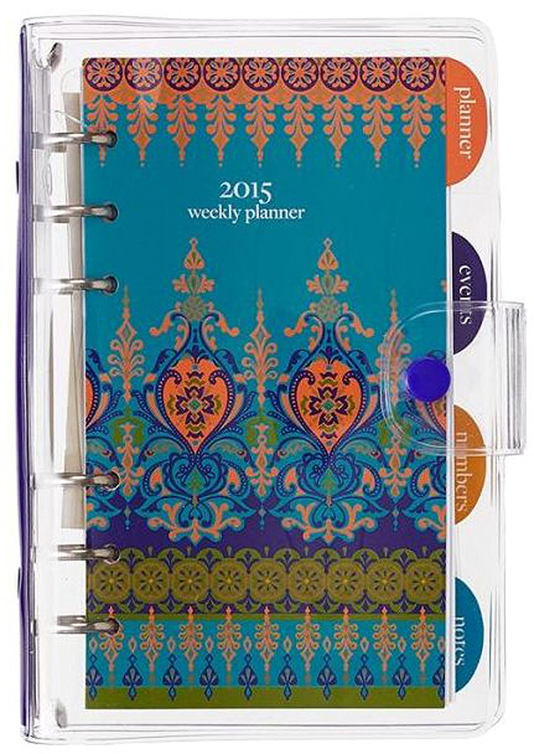 2015 Vinyl Moroccan Borders Weekly Engagement Calendar/Planner (18-month Planner Covering July 2014 - December 2015)