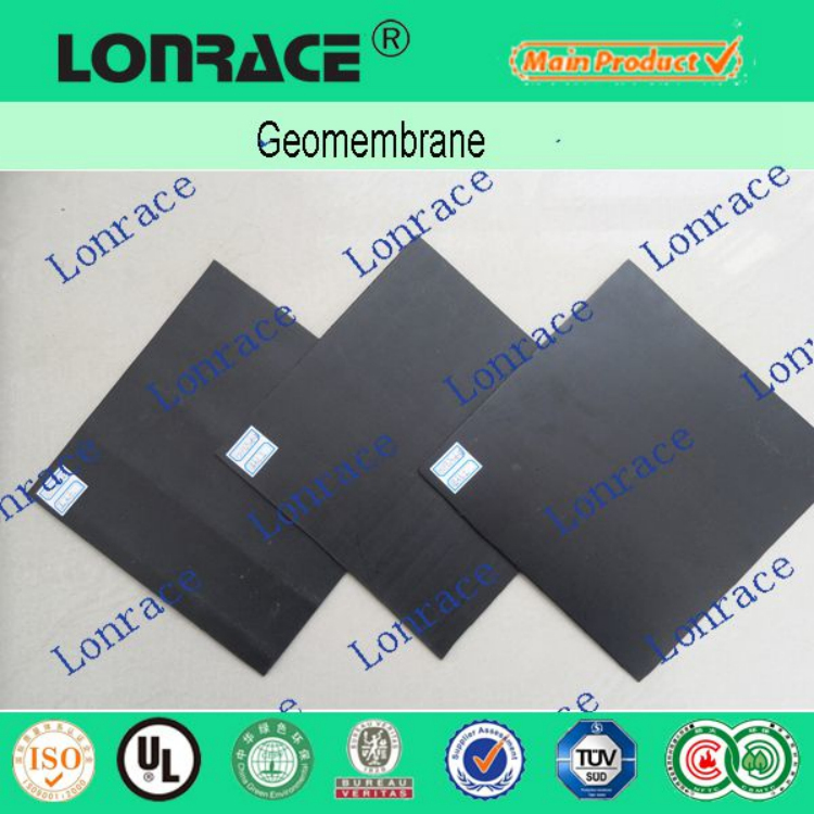 waterproof black HDPE geomembrane sheet