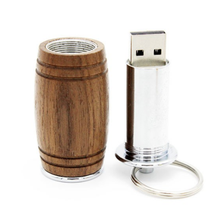 Alibaba China 2017 Products Stock Red Wine Barrel Wood Usb Stick Usb Key