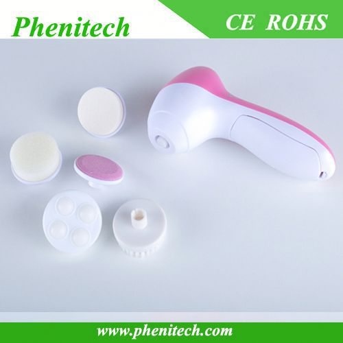 Small battery vibrating sonic facial cleaner brush