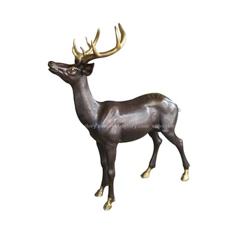 Hot Sale New Product Life Size Brass Deer Statue