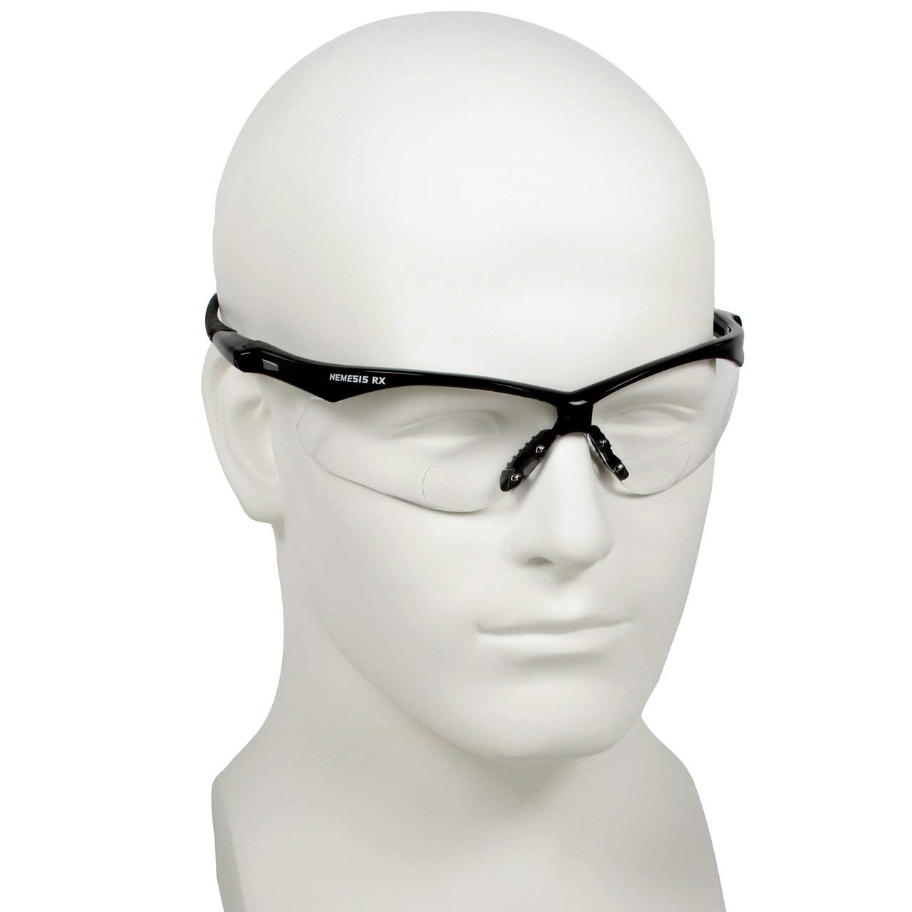0a9532d7847 Get Quotations · Jackson Nemesis Bifocal Safety Glasses - Black Frame 1.0  Clear Lens