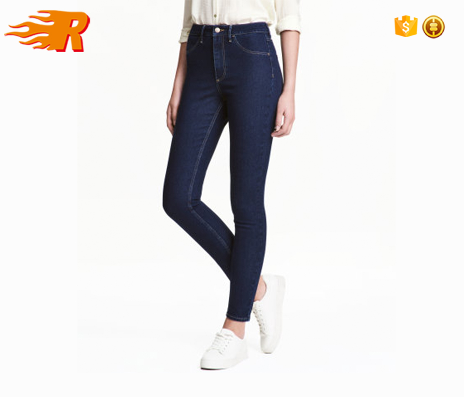 2017 Women High Rise Washed Skinny Boyfriend Stretch Denim Jeans