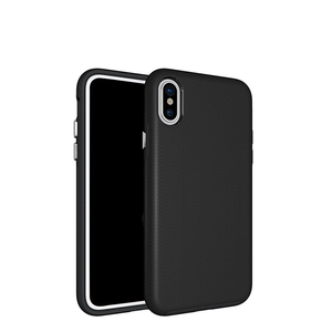 Wholesale mobile accessory 2 in 1 TPU and PC Hybrid Phone Case for iPhone X