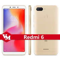 "Original Xiaomi Redmi 6 3GB RAM 32GB ROM Helio P22 Octa Core 5.45"" HD Full Screen Face ID Mobile Phone Dual AI Camera"