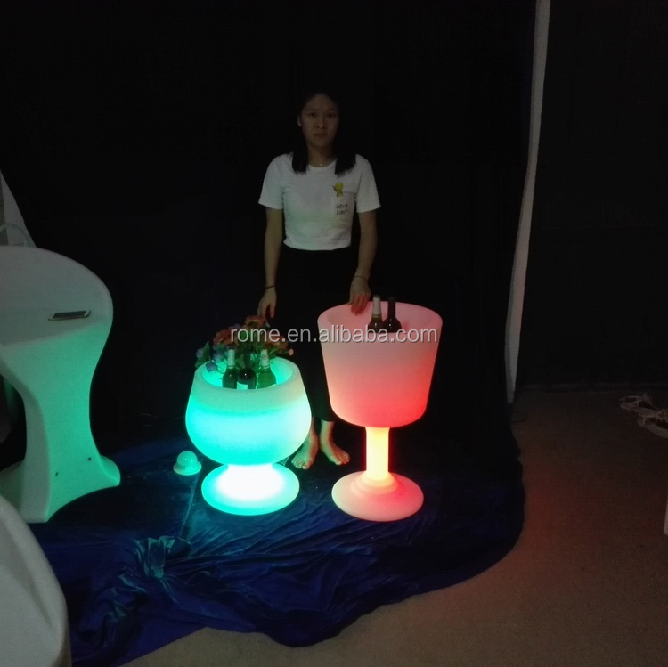 plastic led ice cooler bucket unique creative standing ice bucket for outdoor party