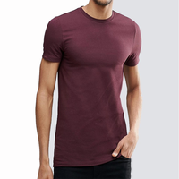 Wholesale Men's Shirts Slim Fit Men's Plain Gym 95% Cotton and 5% Spandex Men's t shirts