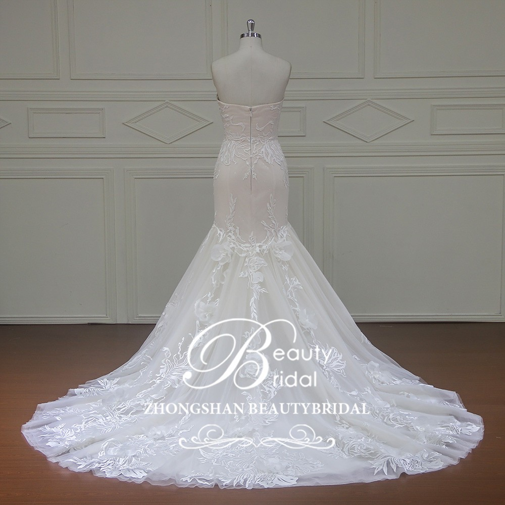 Xf16107 sexy wedding dress bridal mermaid wedding dresses for True mermaid wedding dresses