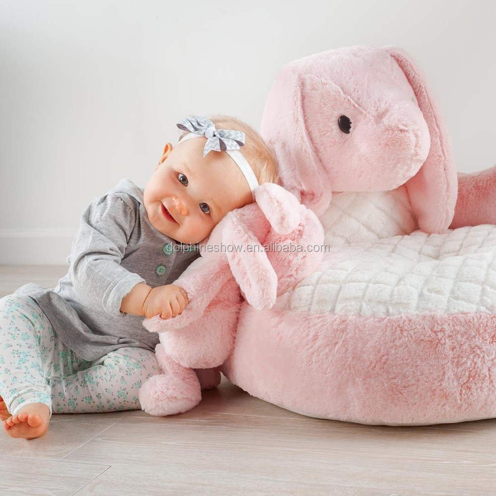 2016 pink cute girl plush doll baby animal sofa chair for Personalized kids soft chairs