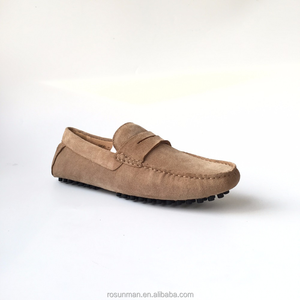 Suede leather men summer slip on loafers fashion shoes with competitive price