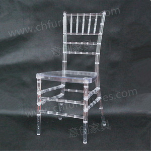 Resin fancy clear color chiavari wedding chair