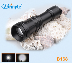 Aluminum B168 3.7V Rechargeable LED Light Coon Coyote Hog Zoom Hunting Flashlight for Air Gun and Shot Gun