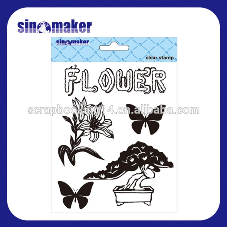 decoration supplies custom design clear stamp sets for card making