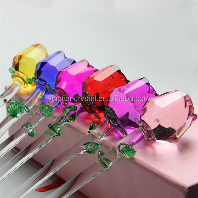 Customize top quality Crystal Rose Flower