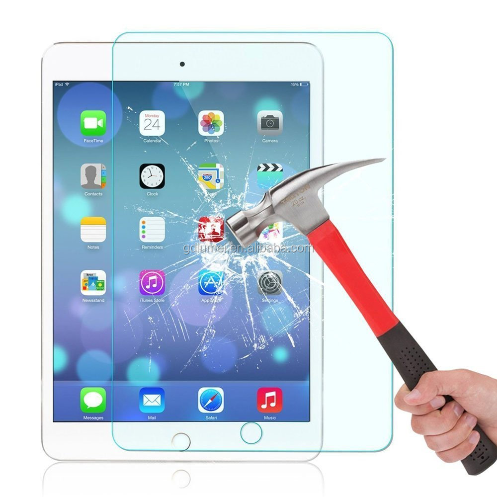 Premium 9.7 inch Easy Installation Tempered Glass Screen Protector for iPad Air or iPad Air 2