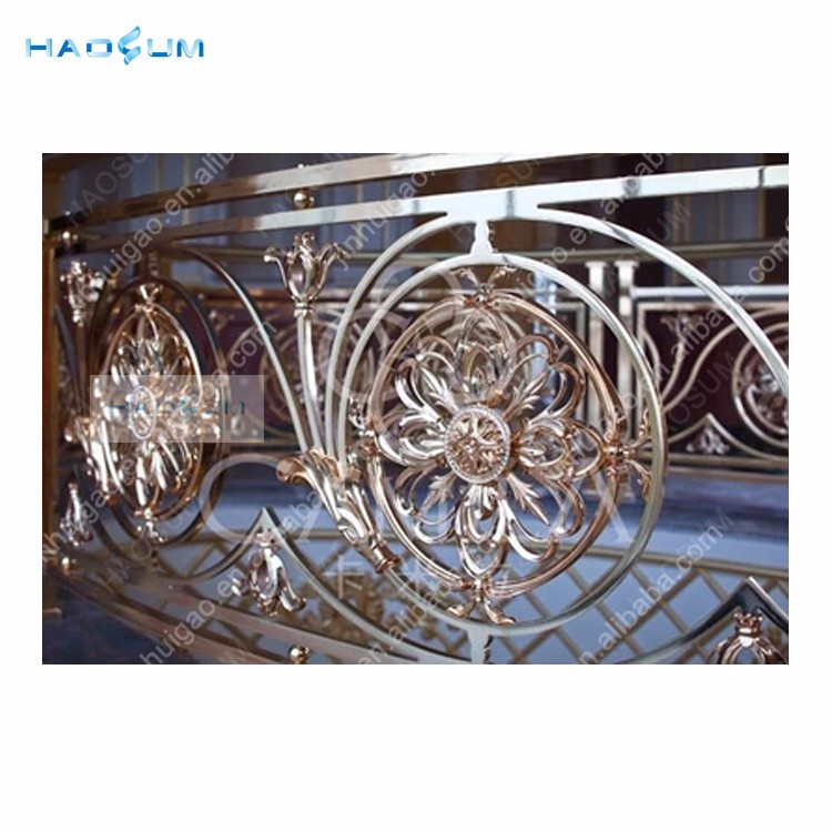 Customized brass handrail for indoor and outdoor stairs/porch/deck/bridge