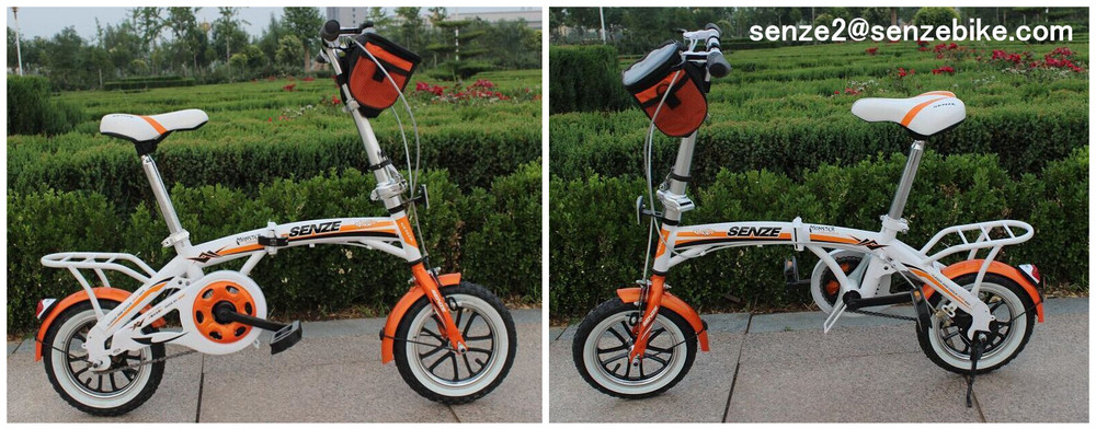 "folding bicycles china 12"" folding bicycle Steel Frame Material bike folding city bicycle"