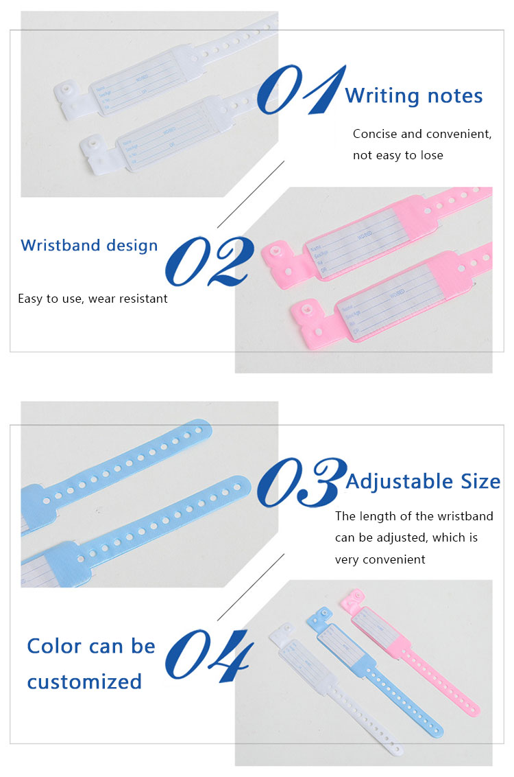 Eco friendly premium quality Adult Patient Identification Bracelet Bands