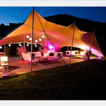 Outdoor Flexible Marquee Wedding Tent White Canopy Stretch Large Sun Shade For
