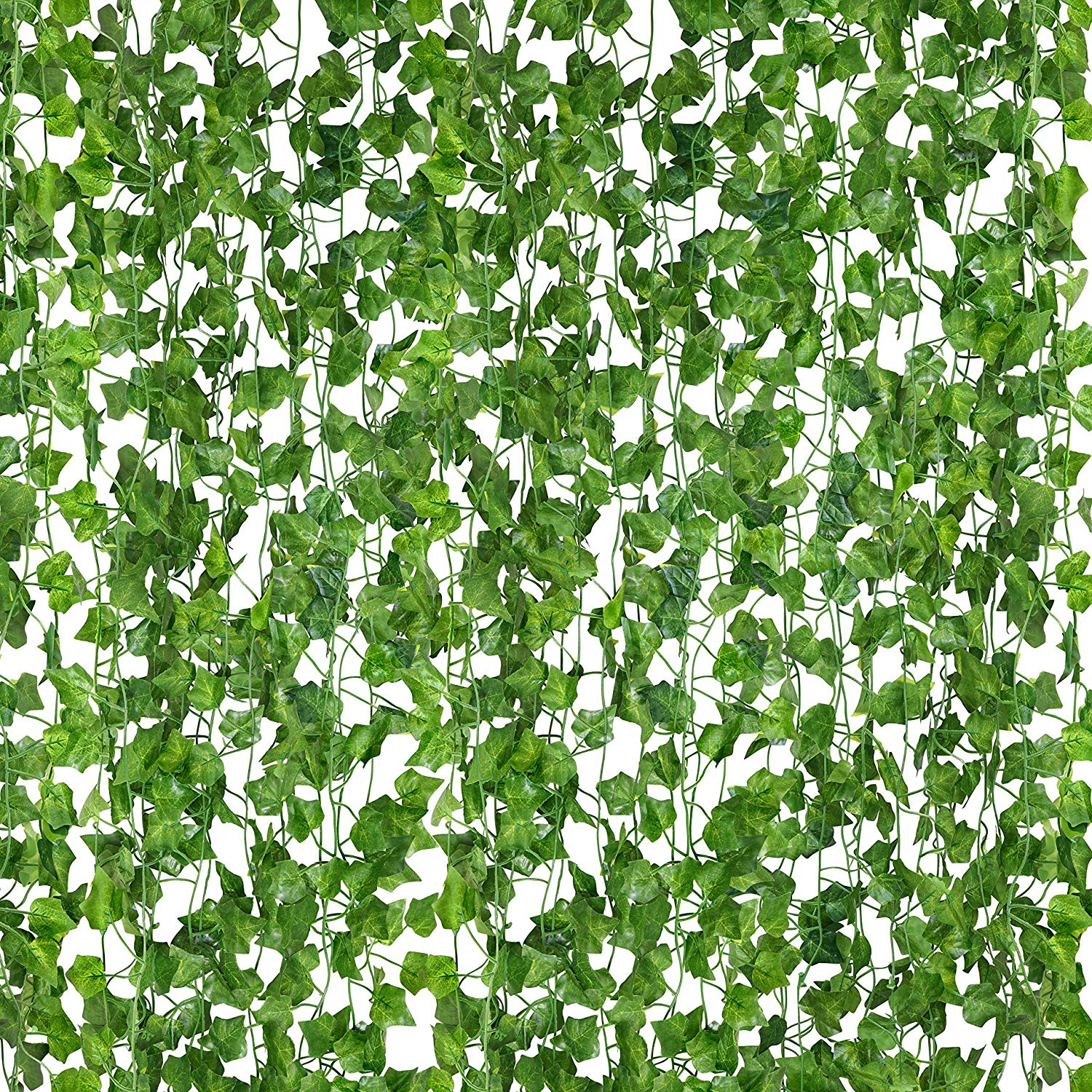 Fake Vines, 84 Ft-12 Strands Garland Greenery Artificial Ivy Hanging Leaves for Garden, Home, Wedding and Jungle Decorations