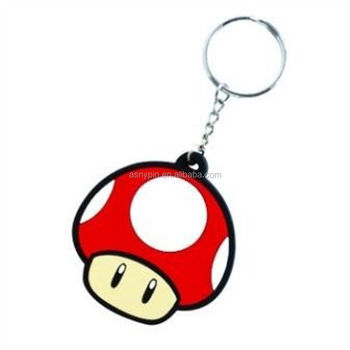 SUPER MARIO BROS TOAD RUBBER KEYRING - Red Mushroom Key Chain Nintendo Retro 885eeb095