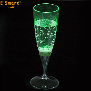 LED Wine Champagne Light Up Glasses Flashing Cups LED Liquid Activated for Bar Night Club Party Drink Halloween Christmas