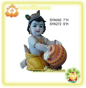 Polyresin India God-Baby Krishna