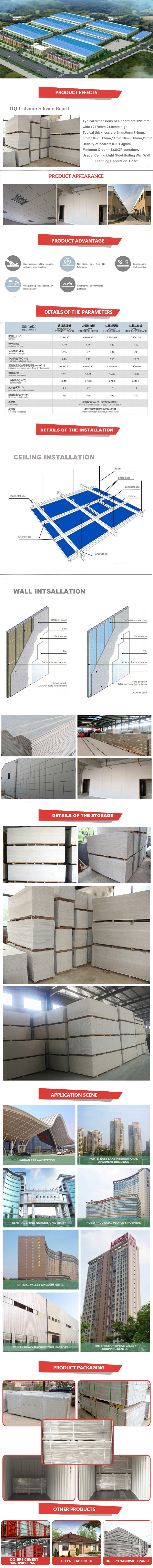 Firepproof Calcium Silicate Board for industry