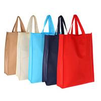 Eco friendly advertising 80 gsm pp nonwoven polypropylene colored promotional bags