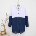 2016 New Fashion Women Shirt Long Sleeve Autumn Summer Casual Shirt Work Mixed Colors Loose Shirts