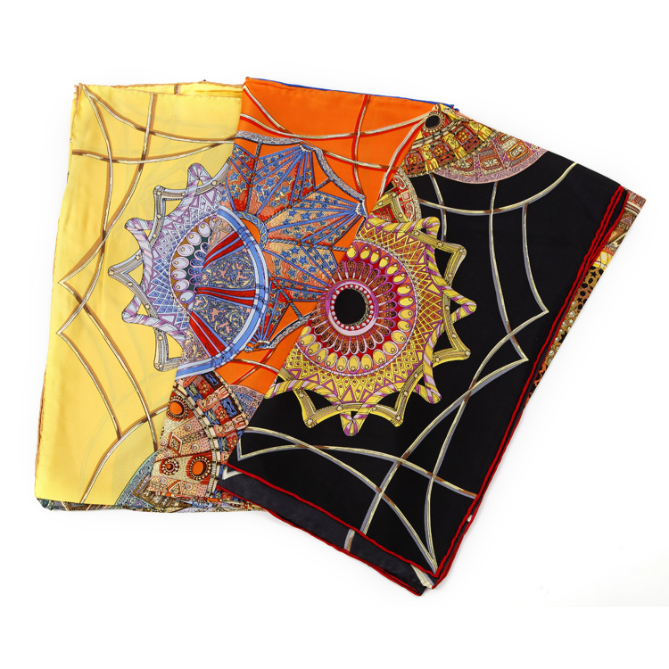 2014 fashion ladies spring autumn 100% silk printing scarf  total three colors