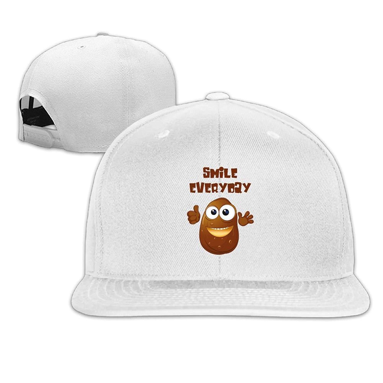 2d5058eff5c Get Quotations · Caps VF5 Smile Of Potatoes Unisex Brim Trucker Hat Flat  Bill Brim Cap