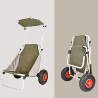 New design outdoor portable folding beach cart with 2 wheels